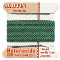 2M Griffin Silk Cord 0.98mm Bead Thread Green Size 12